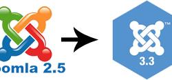 joomla 2.5 to 3.3