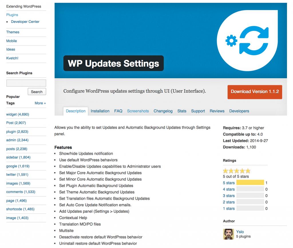 WP-Updates-Settings
