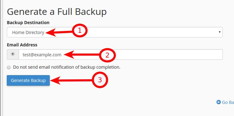 cpanel backups
