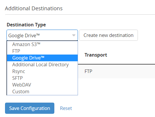 Google Drive: How to Create a Custom Transport Script for Backups from WHM to Google Drive