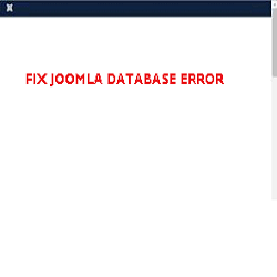 fix joomla database error