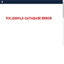 fix joomla database error
